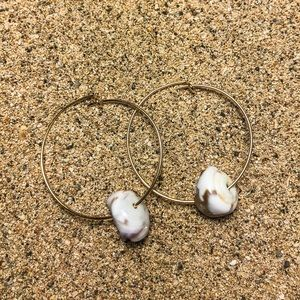 Simple Puka Shell Earrings